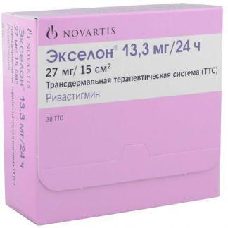 Экселон 13,3мг/24ч n30 пластырь трансдермальный