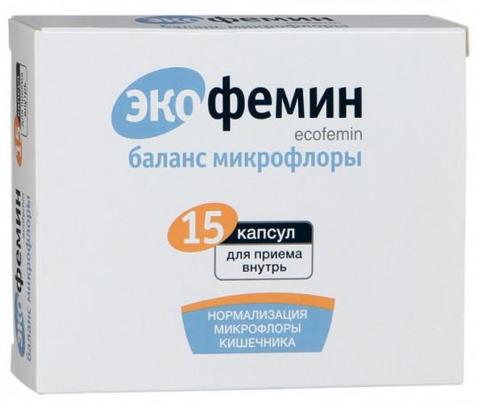 Экофемин баланс микрофлоры капсулы 15 шт., фото №1