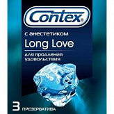 Контекс презервативы лонг лав 3 шт.