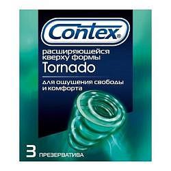 Контекс презервативы торнадо 3 шт.