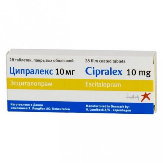 Ципралекс 10мг 28 шт. таблетки, фото №1