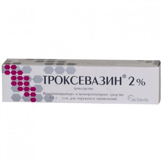 Троксевазин 2% 40г гель для наружного применения, фото №1