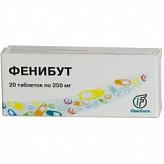 Фенибут 250мг 20 шт. таблетки
