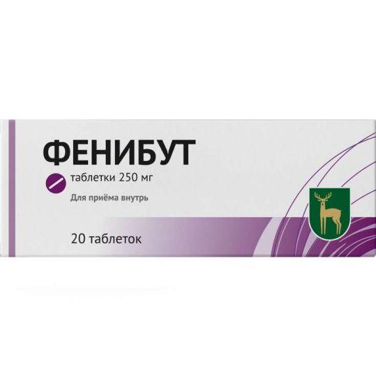 Фенибут 250мг 20 шт. таблетки, фото №1