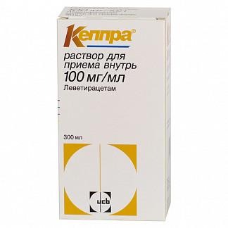 Кеппра 100мг/мл 300мл раствор для внутреннего применения