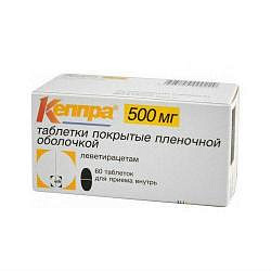 Кеппра 500мг 60 шт. таблетки