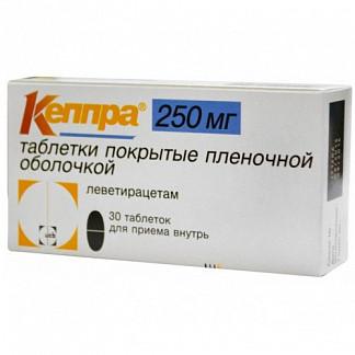 Кеппра 250мг 30 шт. таблетки
