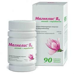 Магнелис в6 48мг+5мг 90 шт. таблетки покрытые оболочкой