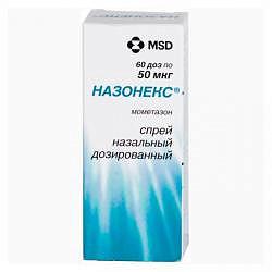 Назонекс 50мкг/доза 60доз спрей назальный дозированный