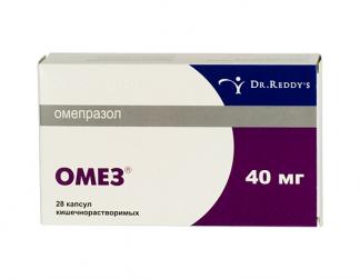 Омез 40мг n28 капс. кишечнорастворимые dr. reddy.s laboratories ltd.
