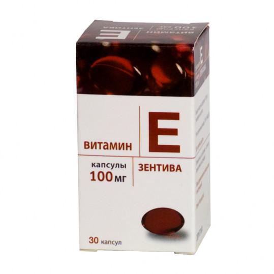 Витамин е зентива 100мг 30 шт. капсулы, фото №1
