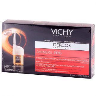 Виши деркос аминексил про средство против выпадения волос д/мужчин дуопак n18х2