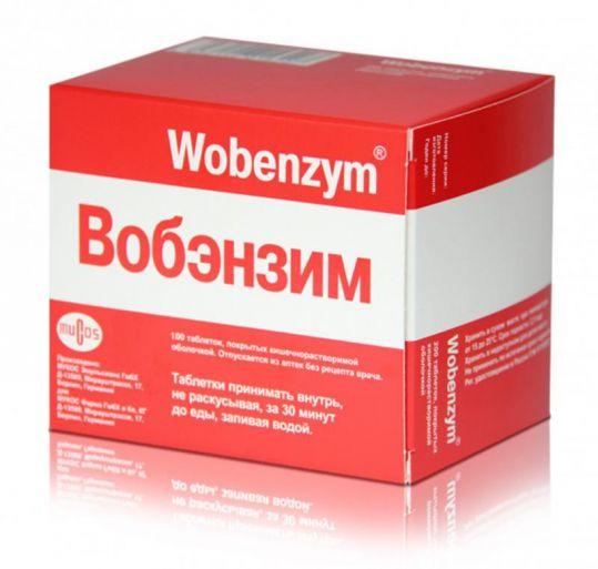 Вобэнзим 100 шт. таблетки покрытые кишечнорастворимой оболочкой, фото №1