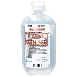 Волювен 6% 500мл 10 шт. раствор для инфузий