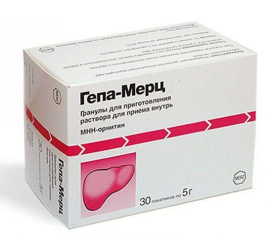 Гепа-мерц 5г 30 шт. гранулы для приготовления раствора для приема внутрь, фото №1