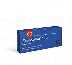 Бисогамма 5мг 30 шт. таблетки покрытые пленочной оболочкой