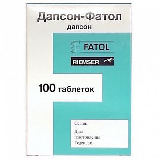 Дапсон-фатол 50мг 100 шт. таблетки