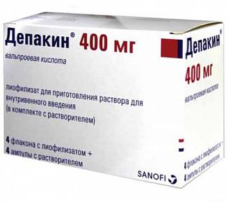 Депакин 400мг n4 лиофилизат д/приготовления р-ра gruppo lepetit