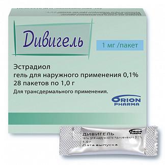 Дивигель 0,1% 1г n28 гель д/наружного применения