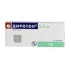 Диротон 2,5мг 14 шт. таблетки