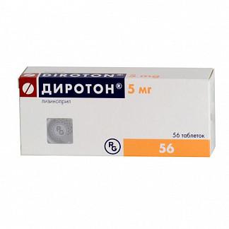 Диротон 5мг 56 шт. таблетки