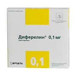 Диферелин 0,1мг 7 шт. лиофилизат для приготовления раствора для подкожного введения