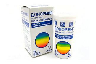 Донормил 15мг 30 шт. таблетки покрытые пленочной оболочкой