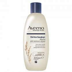 Авино дерма комфорт масло для ванной/душа 300мл джонсон & джонсон