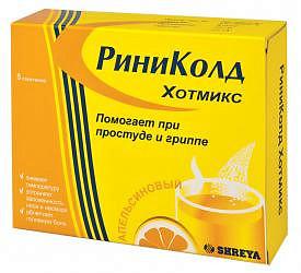 Риниколд хотмикс 5г 5 шт. порошок апельсин