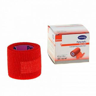 Хартманн пеха-хафт бинт самофиксирующийся красный 4м х 4см