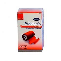 Хартманн пеха-хафт бинт самофиксирующийся красный 4м х 8см