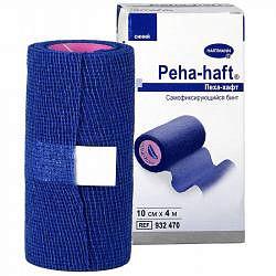 Хартманн пеха-хафт бинт самофиксирующийся синий 4м х10см