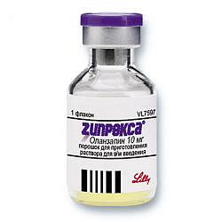 Зипрекса 10мг 5мл лиофилизат для приготовления раствора для внутримышечного введения флакон