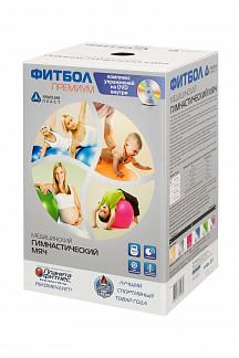 Альпина пласт премиум фитбол (мяч медицинский гимнастический пвх) d65см цвет металлик