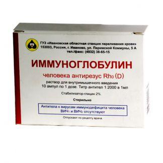 Иммуноглобулин антирезус 1 доза n1 р-р д/инъекций