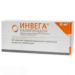 Инвега 6мг 28 шт. таблетки пролонгированного действия покрытые оболочкой