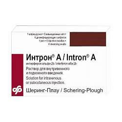 Интрон а 18млн.ме/3мл 1 шт. раствор для внутривенного и подкожного введения флакон