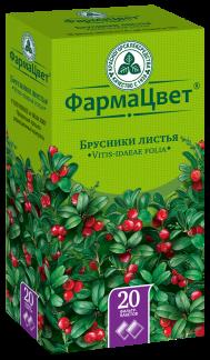 Брусники листья 1,5г n20 ф/п