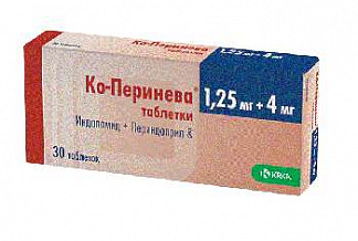 Ко-перинева 1,25мг+4мг 30 шт. таблетки