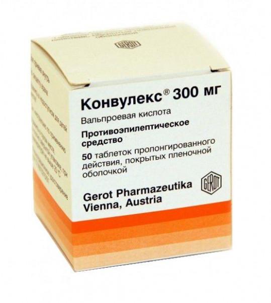 Конвулекс 300мг 50 шт. таблетки пролонгированного действия, фото №1