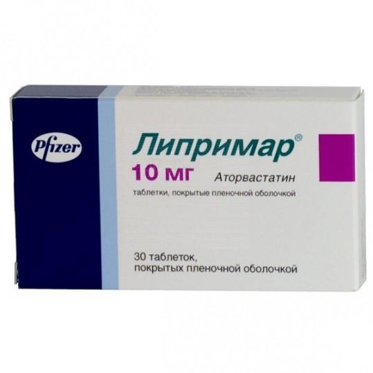 Липримар 10мг 30 шт. таблетки покрытые пленочной оболочкой pfizer ireland pharmaceuticals, фото №1