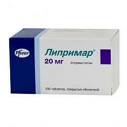 Липримар 20мг 100 шт. таблетки покрытые пленочной оболочкой pfizer ireland pharmaceuticals