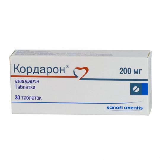 Кордарон 200мг 30 шт. таблетки, фото №1