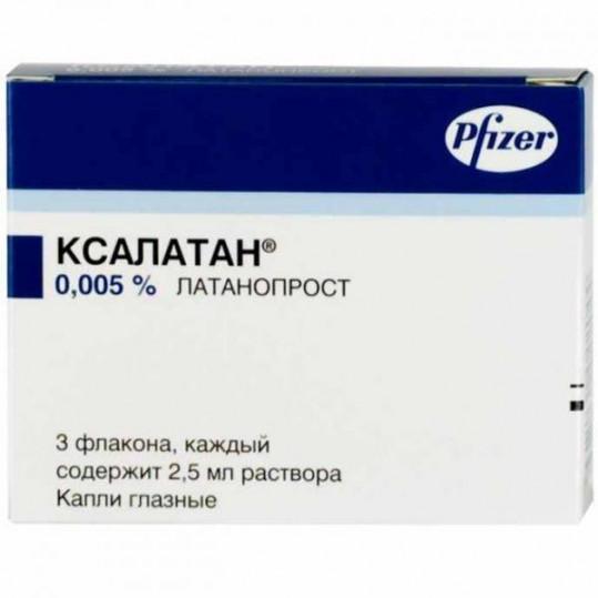 Ксалатан 0,005% 2,5мл 3 шт. капли глазные, фото №1