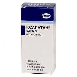 Ксалатан 0,005% 2,5мл капли глазные
