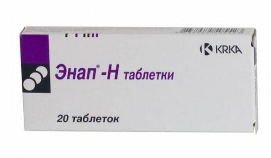 Энап-н 25мг+10мг 20 шт. таблетки, фото №1