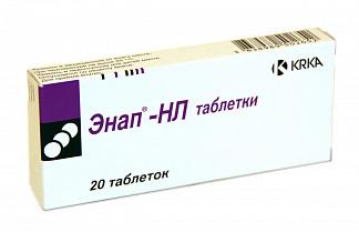 Энап-нл 12,5мг+10мг 20 шт. таблетки