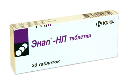 Энап-нл 12,5мг+10мг 20 шт. таблетки, фото №1