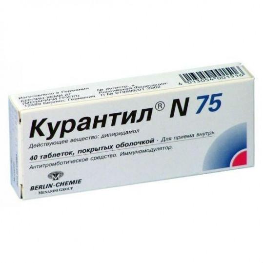 Курантил n 75мг 40 шт. таблетки, фото №1
