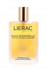 Лиерак сенсорьель масло для волос и тела восстанавливающее белые цветы 100мл